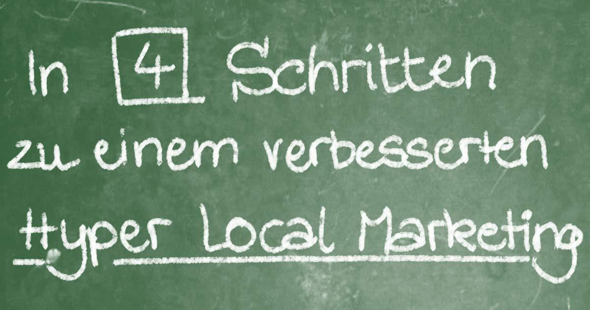 Hyper Local Marketing für kleine Unternehmen