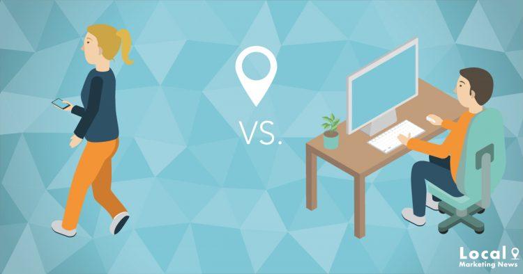 Lokale Suche: mobil vs. Desktop